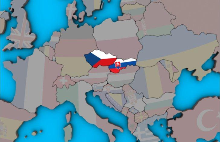 Česko a Slovensko na mape