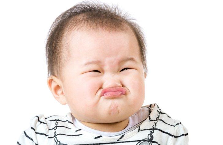 Dítě se tváří kysele