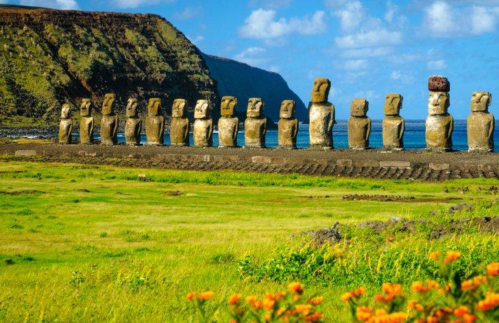 Velikonoční ostrovy sochy