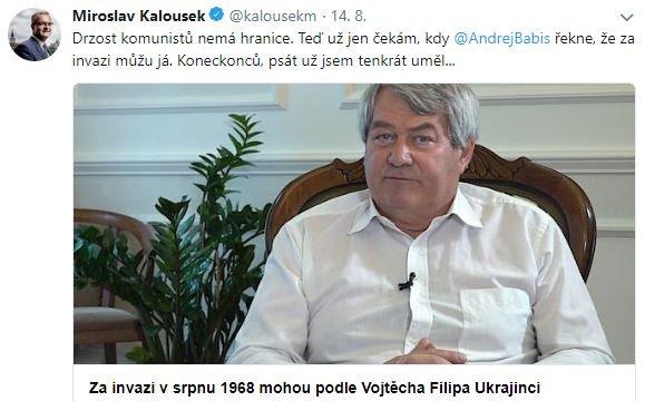 Kalousek - twitter