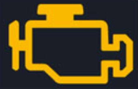 Závada systému řízení emisí kontrolka