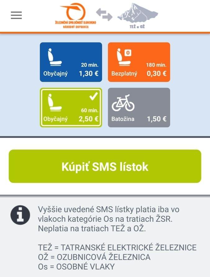 Ako kúpiť lístok na vlak cez SMS? (návod)