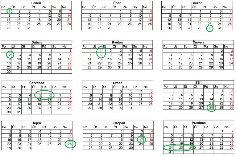 cesky kalendar svatky Kalendář státních svátků 2018: dny volna a zavřené obchody  cesky kalendar svatky