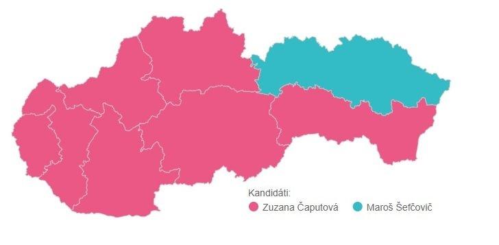 Kandidáti s najvyšším počtom hlasov v jednotlivých krajoch