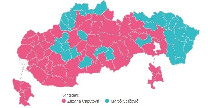 Kandidáti s najvyšším počtom hlasov v jednotlivých okresoch
