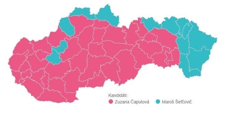 Kandidáti s najvyšším počtom hlasov v jednotlivých územných obvodoch